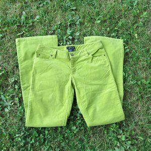 Venus Green Corduroy Bell Bottom Pants size 6